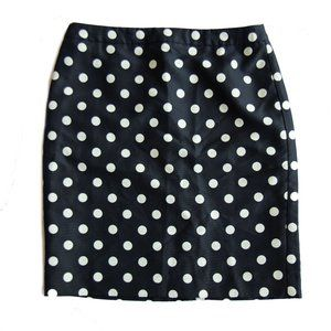 Ann Taylor LOFT Polka Dot Pencil Skirt
